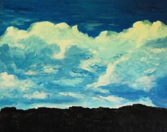 Algonquin Park Clouds (acrylics)